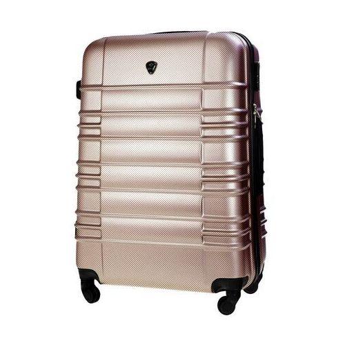 Torby i walizki, Walizka podróżna twarda średnia m stl838 champagne