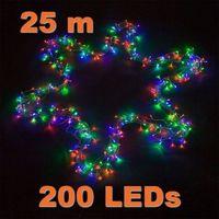 Ozdoby świąteczne, LAMPKI CHOINKOWE 200 LED KOLOROWYCH OZDOBA ŚWIĘTA - 200 LED / 25 METRÓW