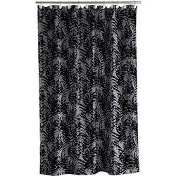 Zasłona prysznicowa leaves 180 x 200 cm szaro-czarna