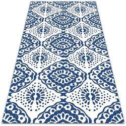 Modny uniwersalny dywan winylowy Modny uniwersalny dywan winylowy Niebieskie wzory