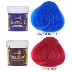 La Riche Directions   Zestaw tonerów koloryzujących: kolor Lagoon Blue 88ml + kolor Rose Red 88ml