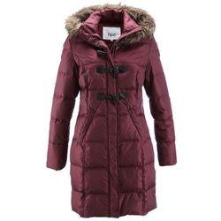 Płaszcz pikowany (lekki puch) bonprix czerwony klonowy