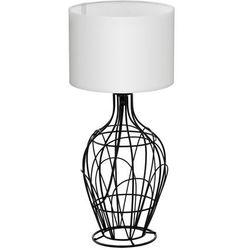 Stojąca LAMPA stołowa FAGONA 94607 Eglo abażurowa LAMPKA nocna drut biała