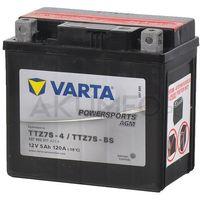 Akumulatory do motocykli, Akumulator VARTA Powersports AGM TTZ7S-BS 12V 5Ah 120A prawy+