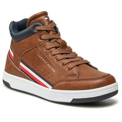 Trzewiki TOMMY HILFIGER - High Top LAce Up Sneaker T3B4-32051-0621 S Tabacco 520