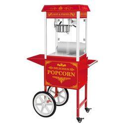 Maszyna do popcornu - wózek - czerwona