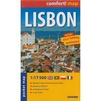 Mapy i atlasy turystyczne, Lisbon Laminowany Plan Miasta 1:17 500 - Mapa Kieszonkowa (opr. miękka)
