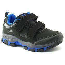 Dziecięce buty sportowe American Club WT11/20 Softshell blue - Czarny ||Niebieski