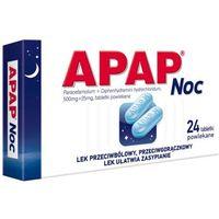 Tabletki przeciwbólowe, Apap Noc 24 tabletki
