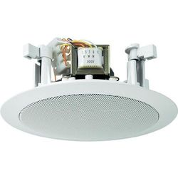 Głośnik sufitowy PA do zabudowy Monacor EDL-25, 94 dB, 100 - 14 000 Hz, 100 V, Kolor: biały, 1 szt.