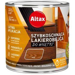 Lakierobejca szybkoschnąca do wnętrz Altax brązowa 0,25 l
