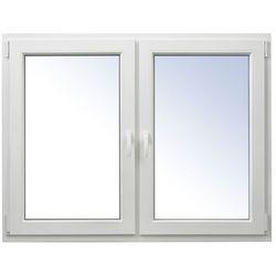 Okno PCV rozwierne + rozwierno-uchylne 1465 x 1135 mm białe symetryczne