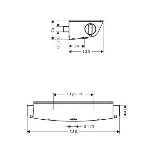 Baterie do wanien, Bateria Hansgrohe Ecostat 13161000