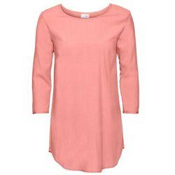 Shirt bluzkowy, rękawy 3/4 bonprix łososiowo-jasnoróżowy