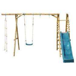 Huśtawka dla dzieci ze zjeżdżalnią KOALA 1 drewniana SOBEX