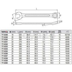 Klucz płasko-oczkowy z polerowaną główką 21 mm Yato YT-0350 - ZYSKAJ RABAT 30 ZŁ