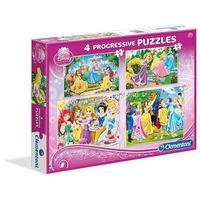 Puzzle, Puzzle CLEMENTONI Zestaw Księżniczki (20 +60 +100 +180 elementów)