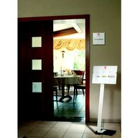 Tablice i flipcharty, CRYSTAL SIGN stand A3, tablica informacyjna A3, Durable