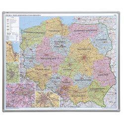 tablica mapa Polski administracyjna 102x120 cm (pinezki)