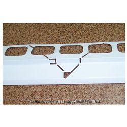 Profil aluminiowy balkonowy narożny 2.0m biały - listwa balkonowa narożna biała