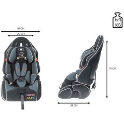 Fotelik samochodowy 9-36 kg KinderSafe Pro Comfort GE-G - Szary Foteliki GE-G (-32%)