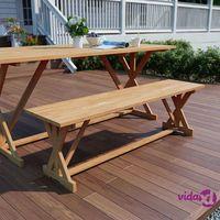 Ławki ogrodowe, vidaXL Ławka ogrodowa, 120 cm, lite drewno tekowe