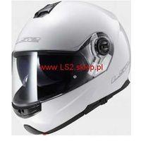 Kaski motocyklowe, KASK MOTOCYKLOWY LS2 SZCZĘKOWY FF325 STROBE SOLID - kolor Biały połysk