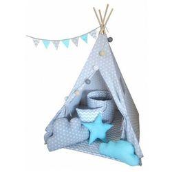Namiot tipi dziecięcy z girlandą 4 wzory - Somit