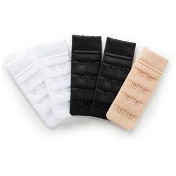 Przedłużenie biustonosza (5 szt.) z zapięciem na 2 haftki bonprix 2x biały + 2x czarny + 1x cielisty