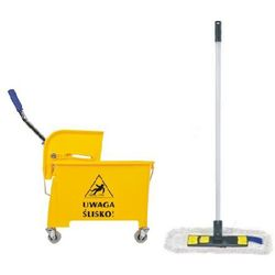Wózek do sprzątania jednowiaderkowy 20 l z mopem płaskim Wiaderko na kółkach z mopem