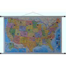 USA mapa ścienna polityczna kody pocztowe 1:5 500 000 Stiefel