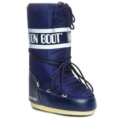 Śniegowce damskie, Śniegowce MOON BOOT - Nylon 14004400002 Blue