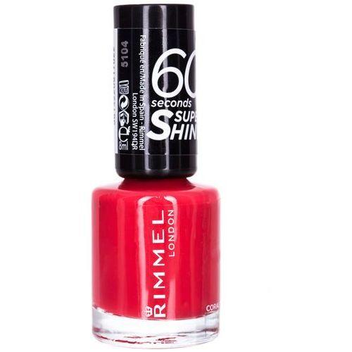 Lakiery do paznokci, Rimmel London 60 Seconds Super Shine lakier do paznokci 8 ml dla kobiet 430 Coralicious