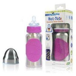 Butelka dla niemowląt Pacific Baby Hot-Tot 200ml Srebrna/Różowa