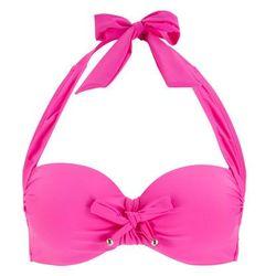 Biustonosz bikini z ramiączkami wiązanymi na szyi bonprix bez