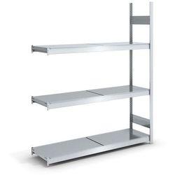 Regał wtykowy o dużej pojemności z półkami stalowymi,wys. 2000 mm, szer. półki 1500 mm