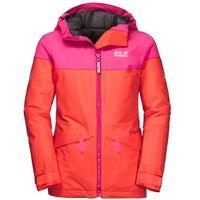 Kurtki dziecięce, Dziewczęca kurtka narciarciarska POWDER MOUNTAIN JACKET GIRLS orange coral - 92