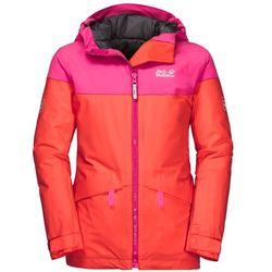 Dziewczęca kurtka narciarciarska POWDER MOUNTAIN JACKET GIRLS orange coral - 104