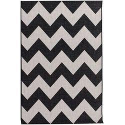 Dekoria Dywan Modern Chevron black/wool 67x130cm, 67x130cm