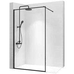 Ścianka prysznicowa 110 cm z czarnym profilem Bler Rea