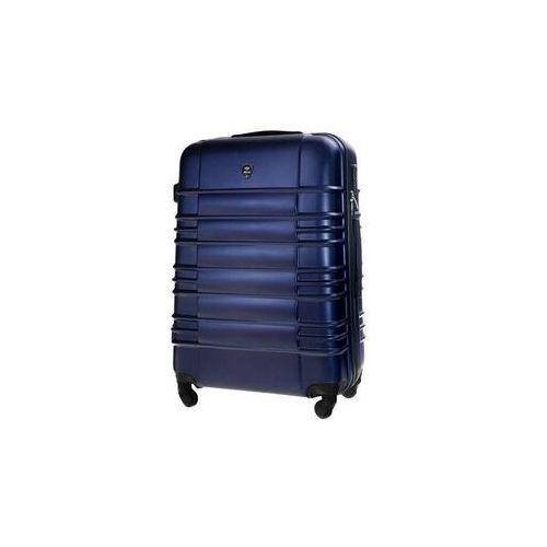 Torby i walizki, Mała walizka kabinowa abs 55x37x24cm s stl838 granatowa