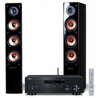 Kino domowe, Zestaw stereo YAMAHA R-N303D + PURE ACUSTIC Nova 8 Czarny DARMOWY TRANSPORT