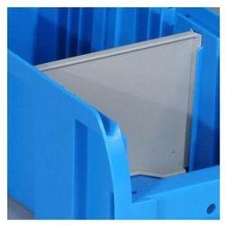 Przegroda do plastikowych pojemników COMPACT, poprzeczna, szerokość 114 mm