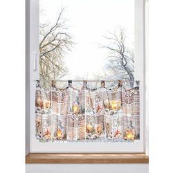 Zazdrostka LED ze świątecznym nadrukiem bonprix biało-szary