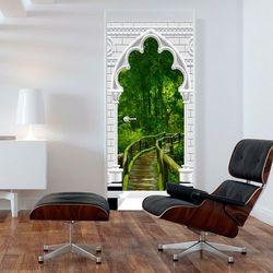 Fototapeta na drzwi - Tapeta na drzwi - Łuk gotycki i dżungla bogata chata
