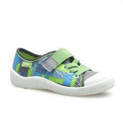 Sandałki dziecięce Befado 251X148 Niebieskie/Zielone