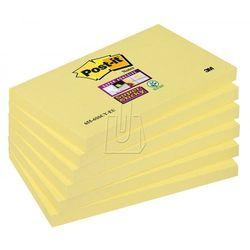 Karteczki samoprzylepne Post-it Super Sticky, klasyczne żółte, 76x127mm, 90k
