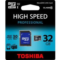 Karty pamięci, Karta micro Secure Digital High-Capacity (microSDHC) TOSHIBA microSDHC 32GB Class 10 High Speed Professional SD-C032UHS1(BL5A