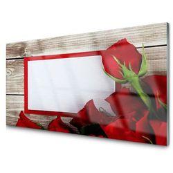 Panel Szklany Róże Kwiaty Roślina