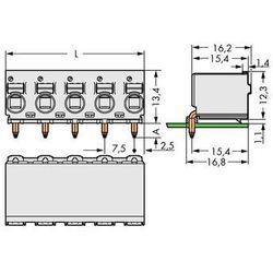 Obudowa żeńska do PCB WAGO 2092-3354, Ilośc pinów 4, Raster: 7.50 mm, 100 szt.